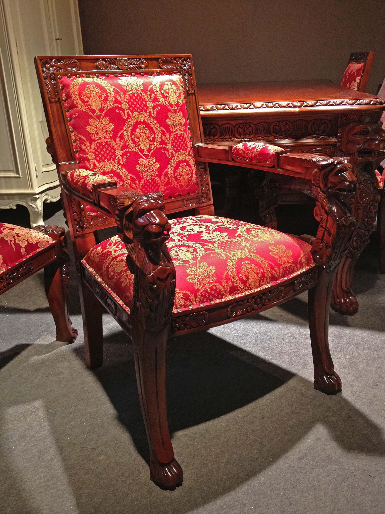 Резное кресло-трон