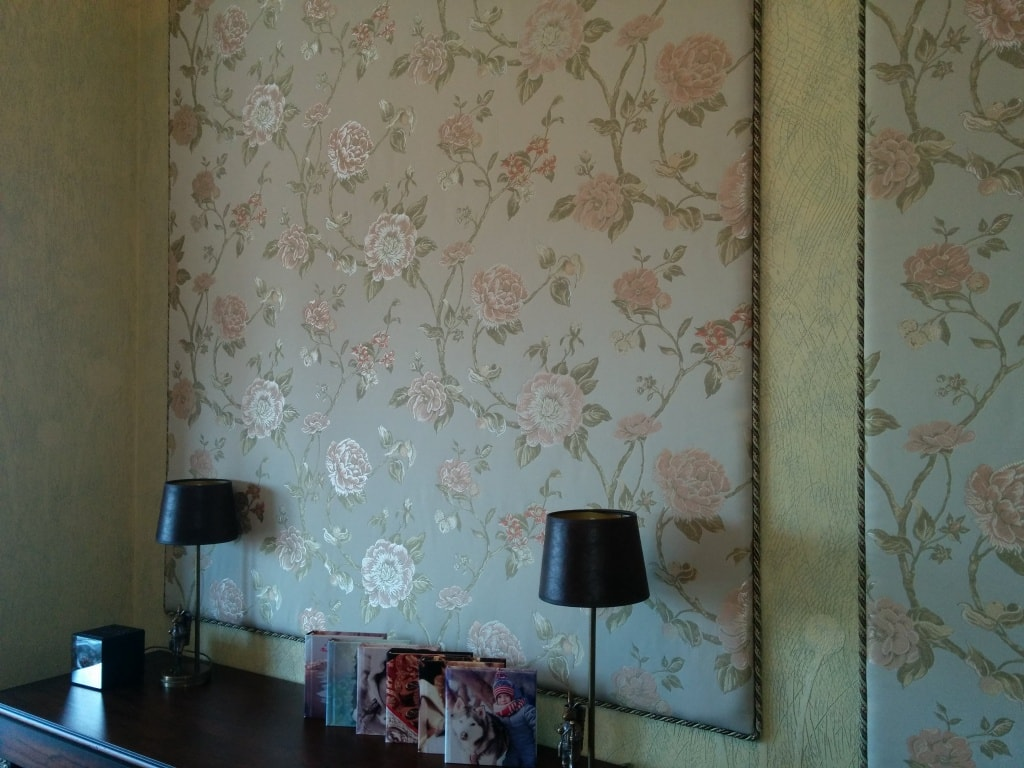 Мягкие стеновые панели с цветами
