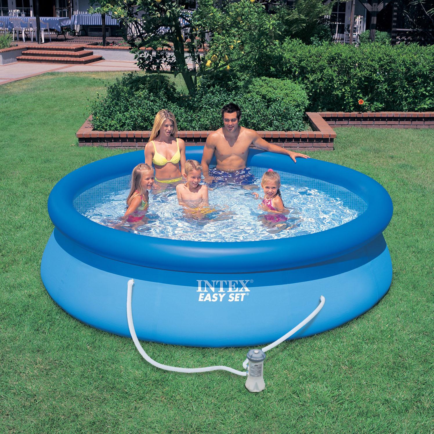 Надувной бассейн с насосом