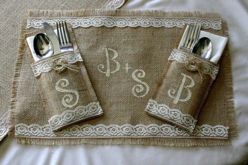 Столовые салфетки из мешковины