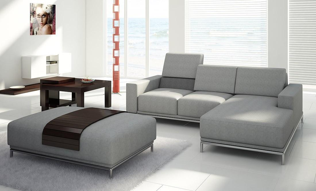 Серый диван-канапе