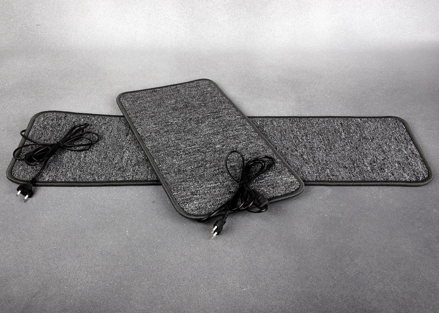 Серый коврик с подогревом