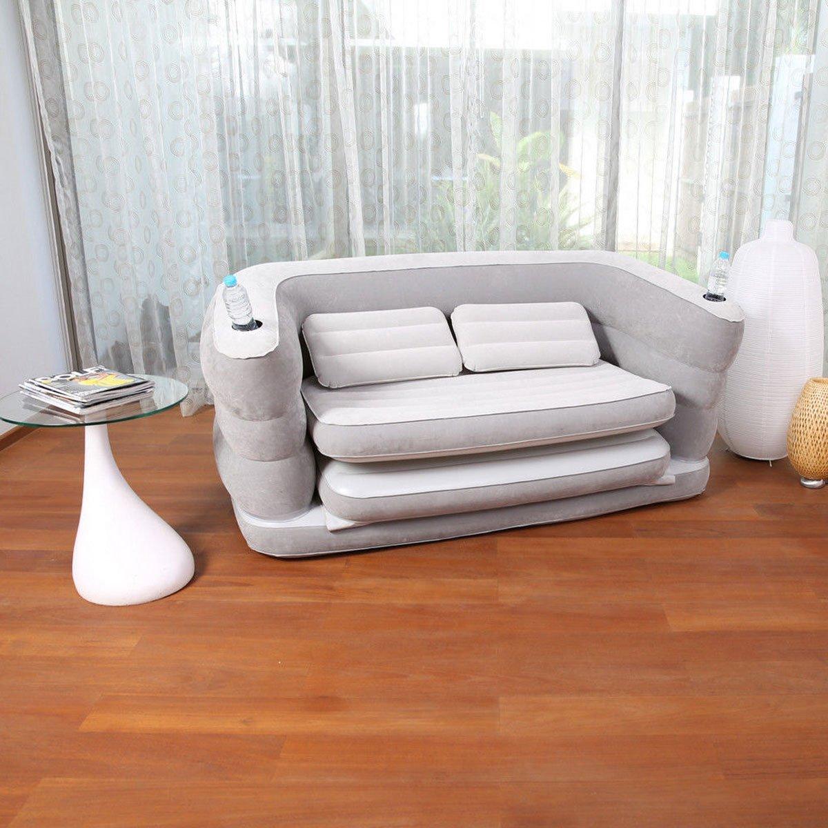 Серый надувной диван