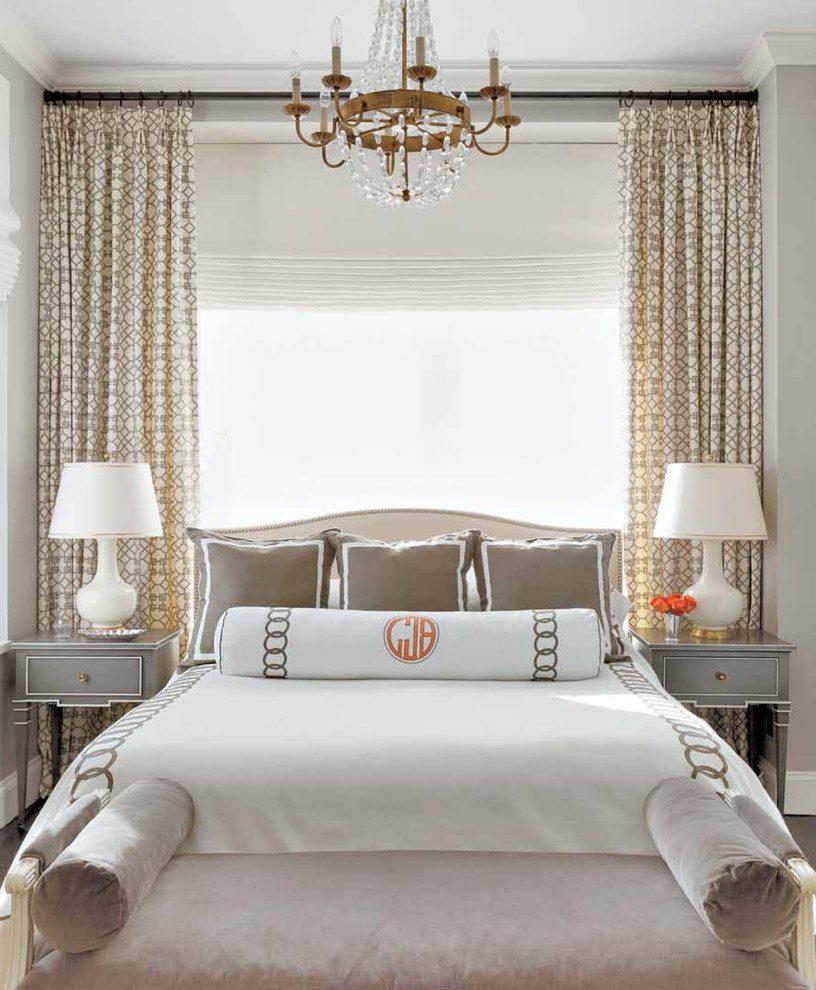 Кровать изголовьем к окну широкому