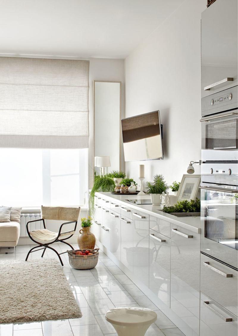 Напольные шкафы в кухне