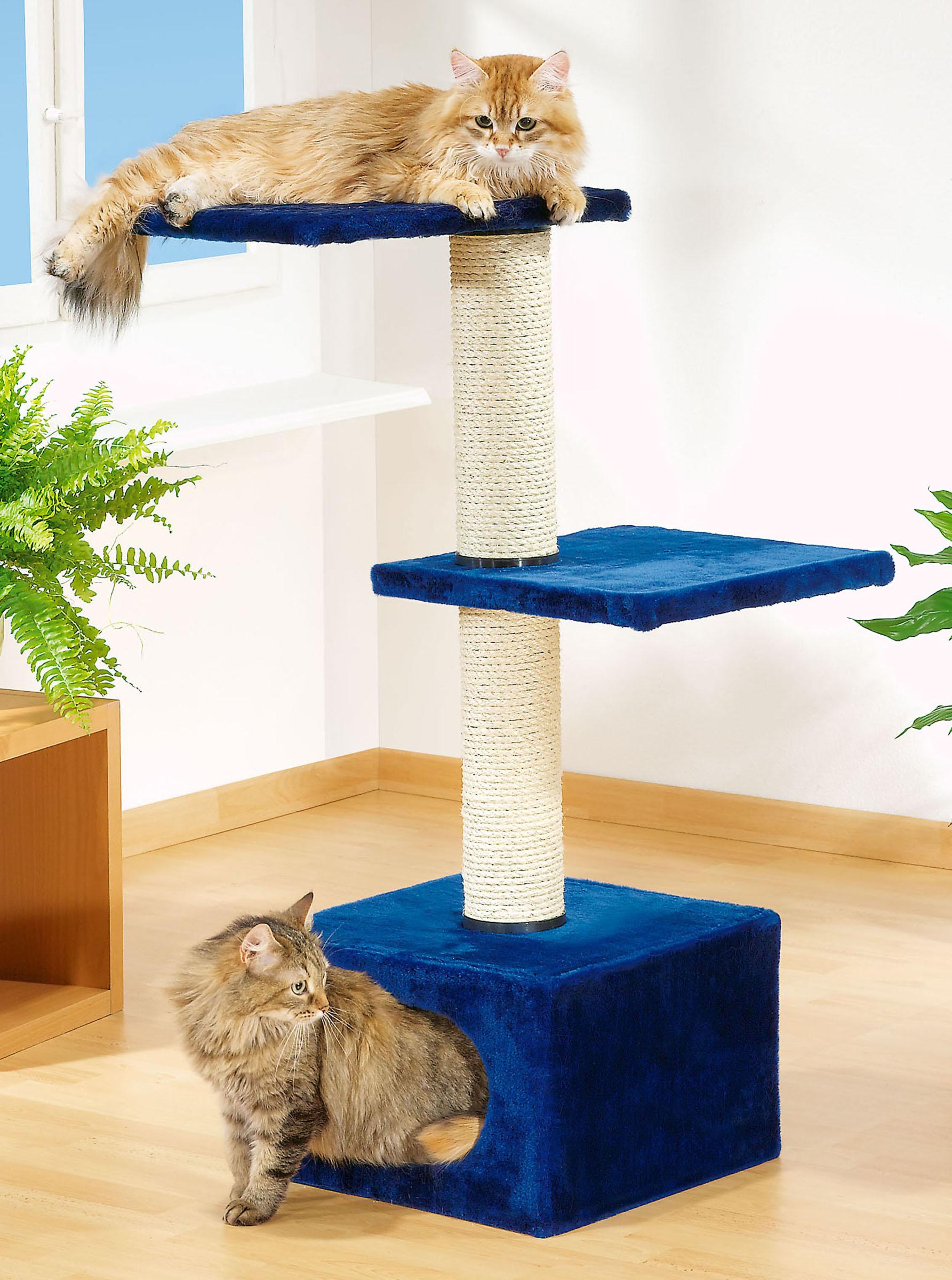 Гамак для кошки синий
