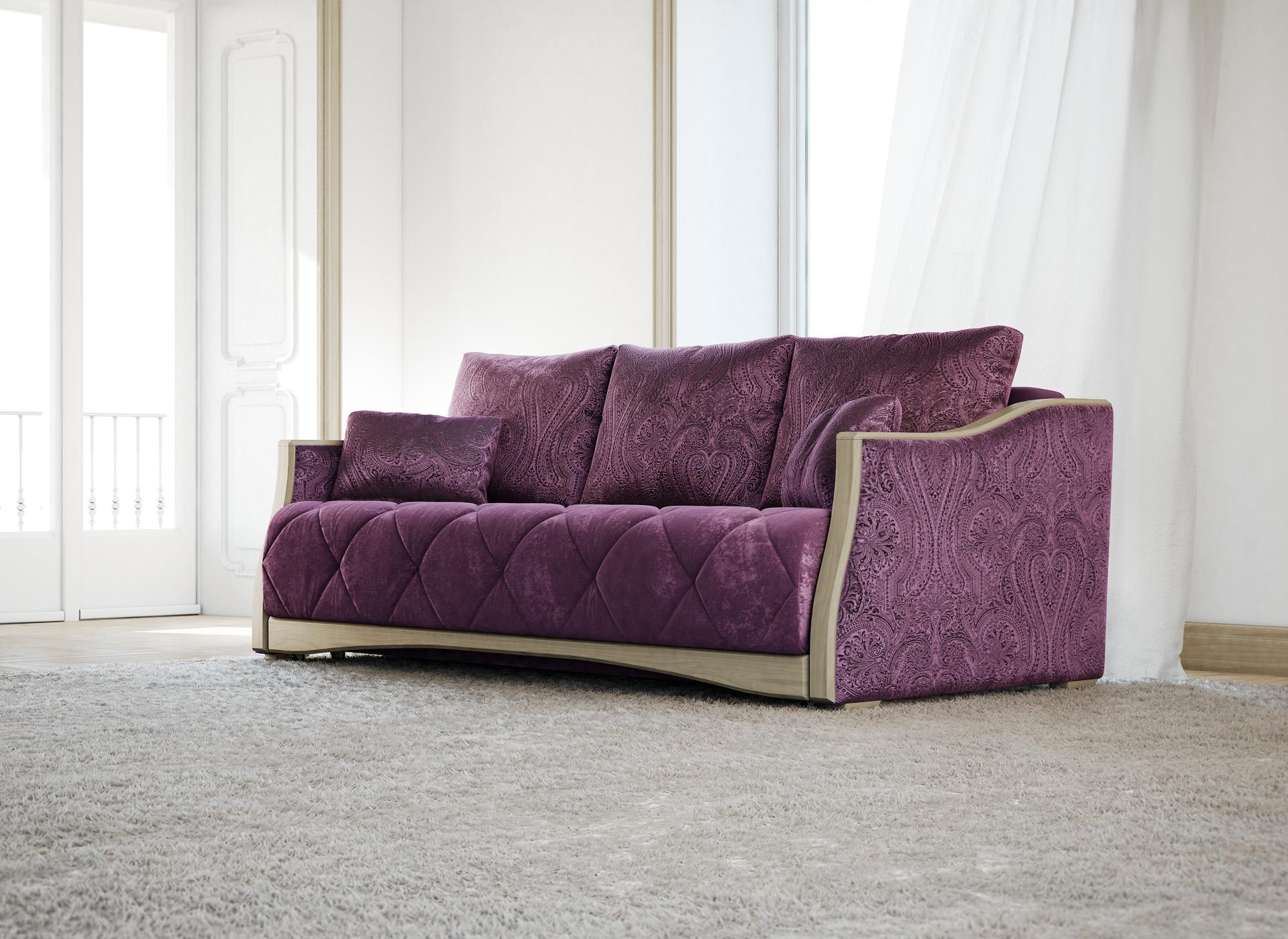 Диван-канапе фиолетового цвета