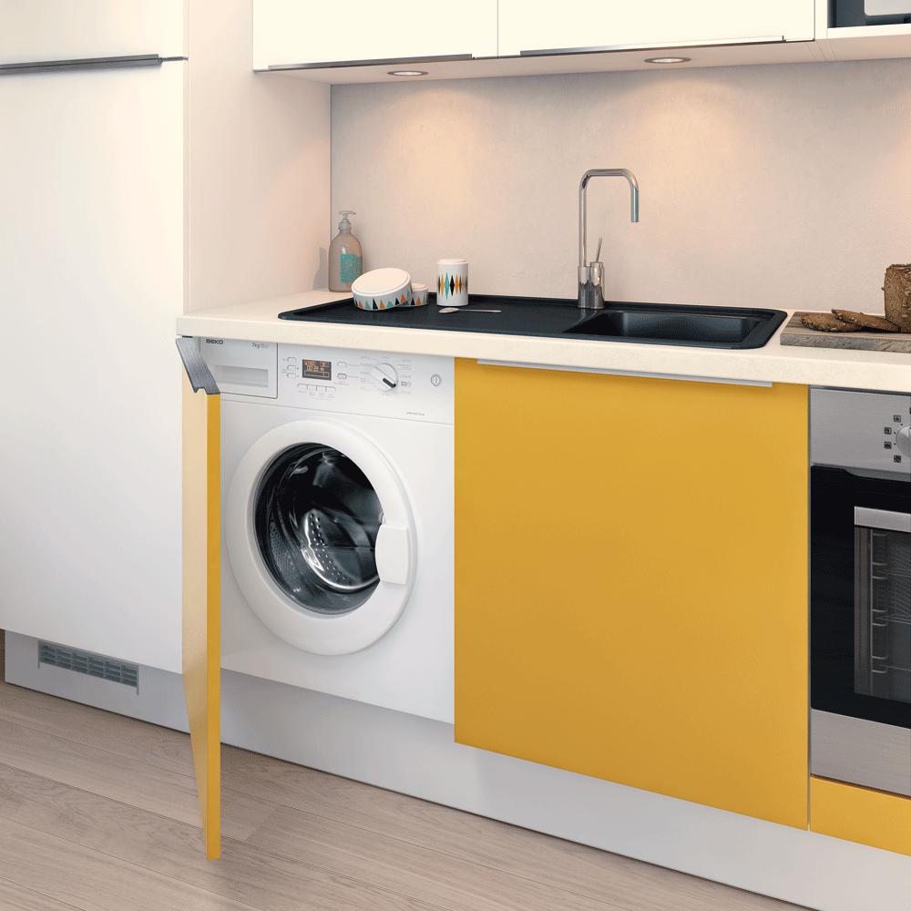 Стиральная машина на кухне скрытая