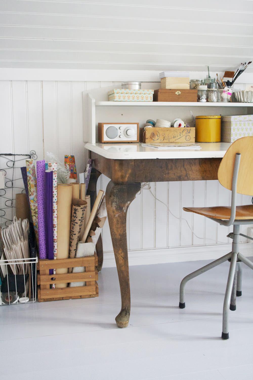 Состаренный стол-бюро