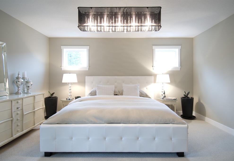 Потолочный плафон из ткани в спальне