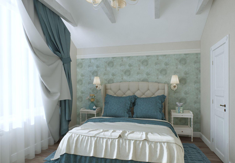 Шторы с подхватом в интерьере спальни