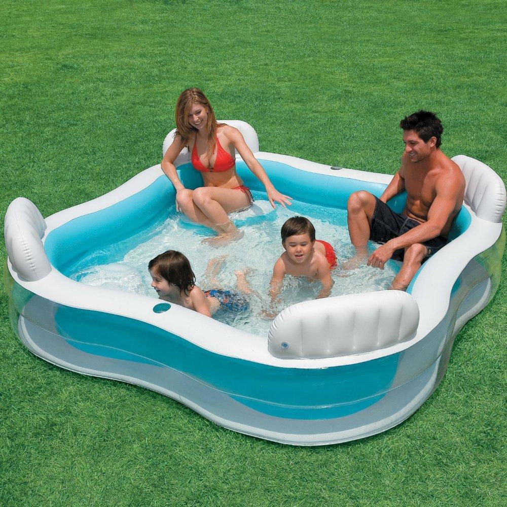 Надувной бассейн со спинкой