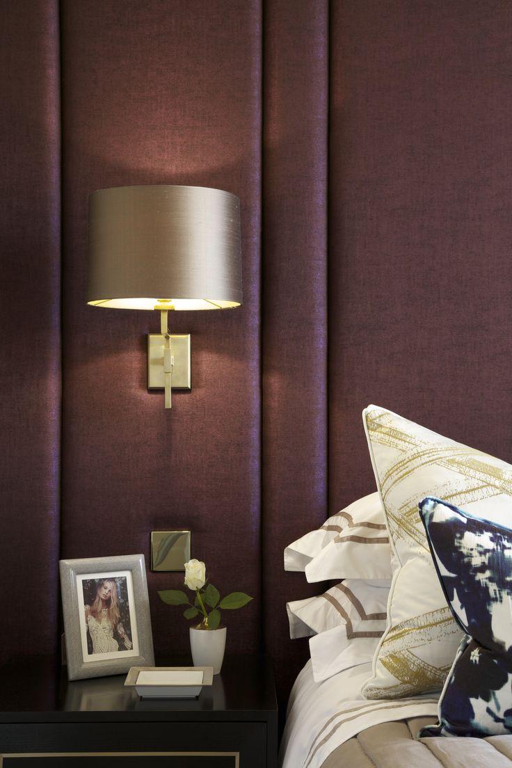Стеновые панели из текстиля в спальне
