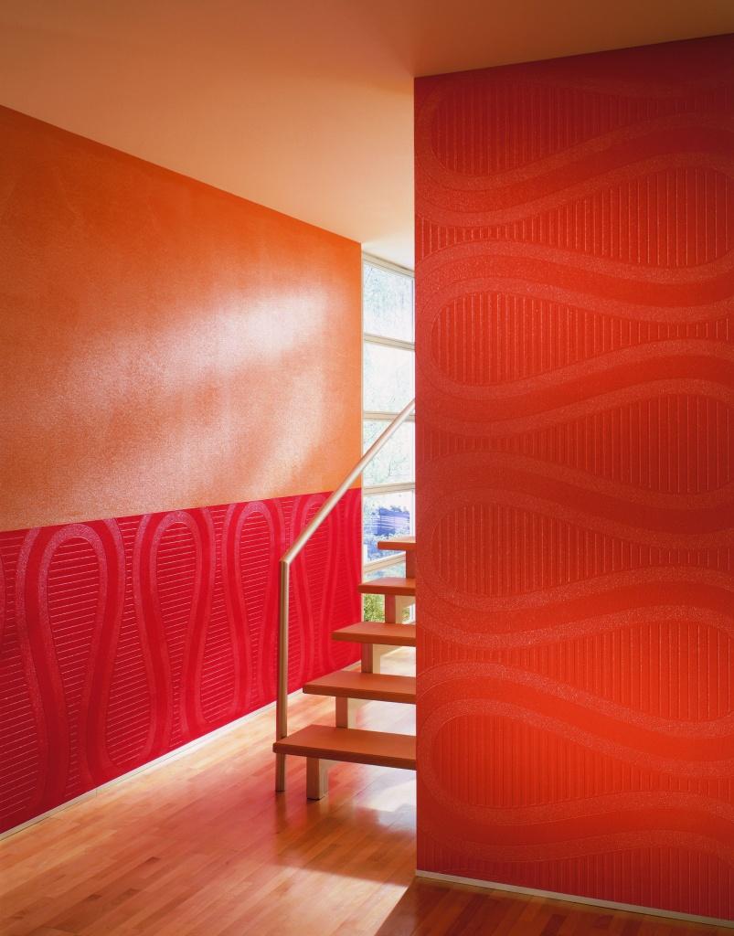 Покраска текстурных обоев в интерьере