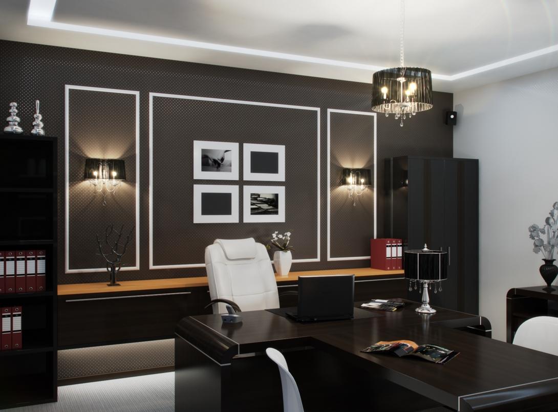 Мебель из темного дерева для кабинета