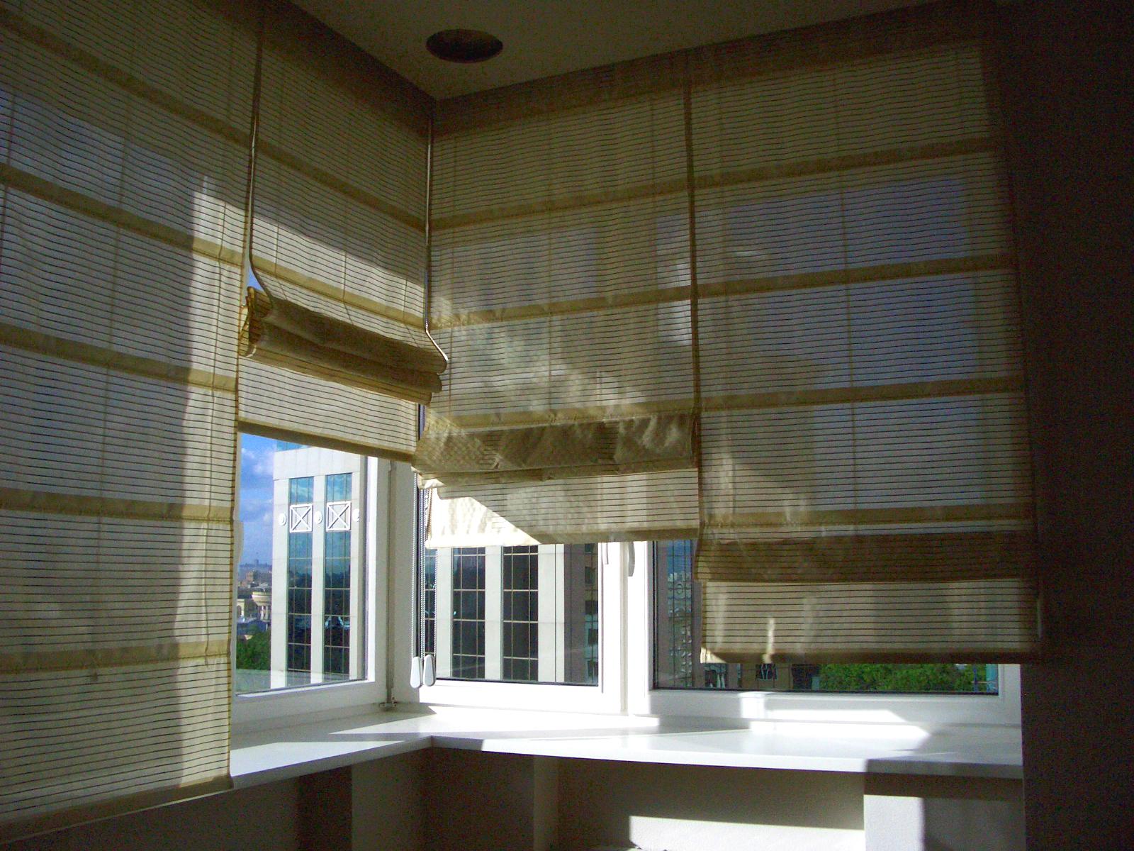 Римские шторы из легкой ткани