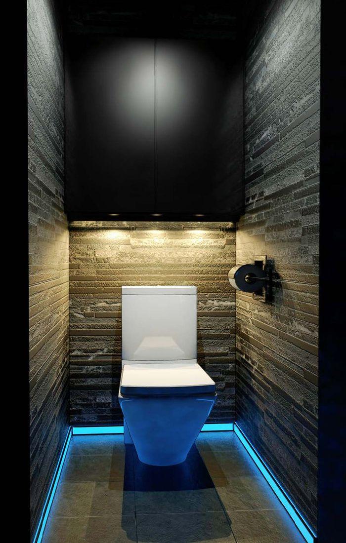 Подсветка пола в туалете