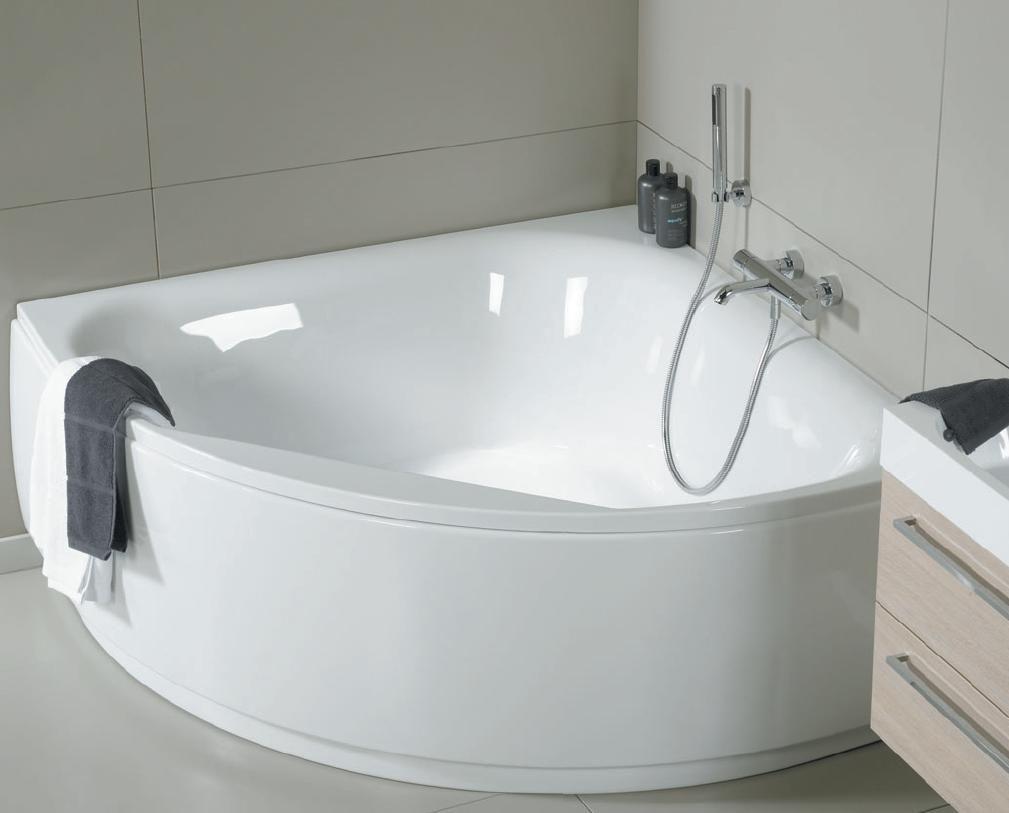 Керамический бордюр для угловой ванны