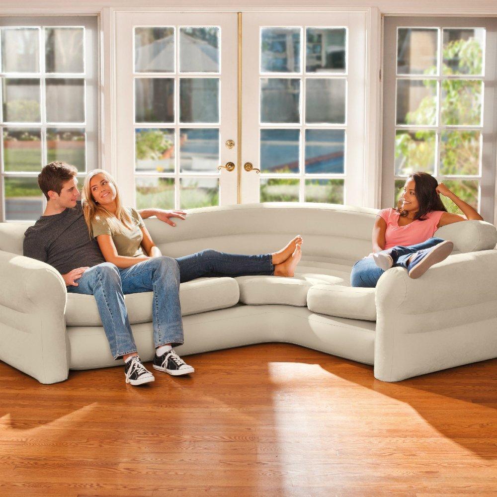 Угловой надувной диван