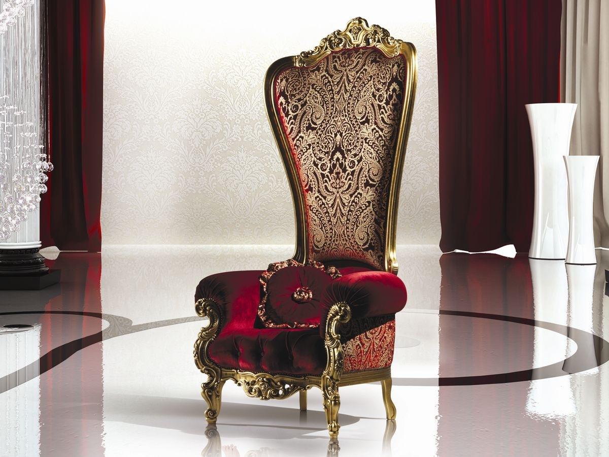 Кресло-трон с узором