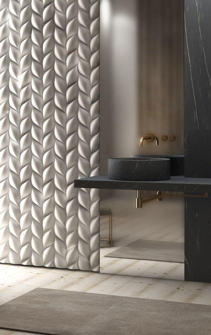3D-панели в ванной комнате