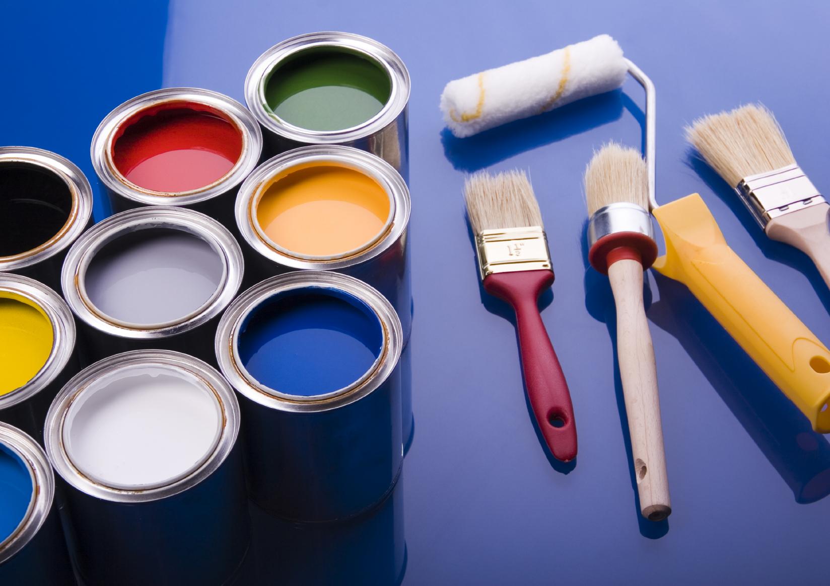 Виды красок для обоев