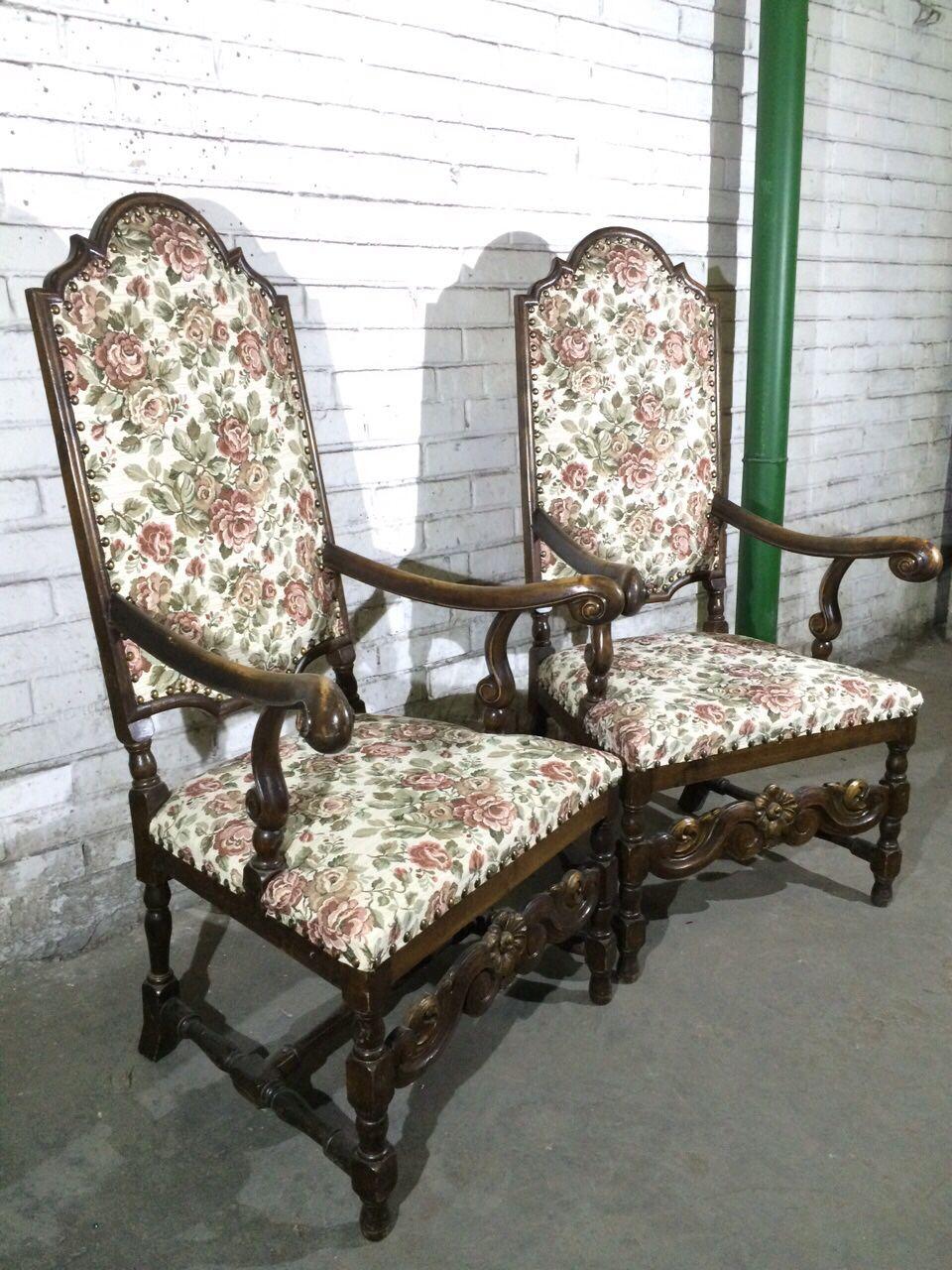Винтажное кресло-трон