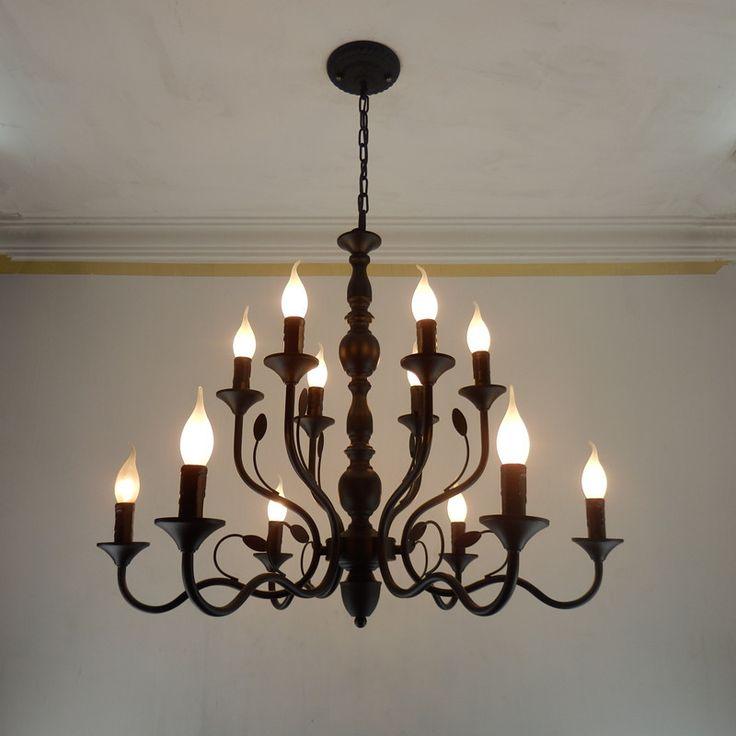 Люстра со свечами-лампочками