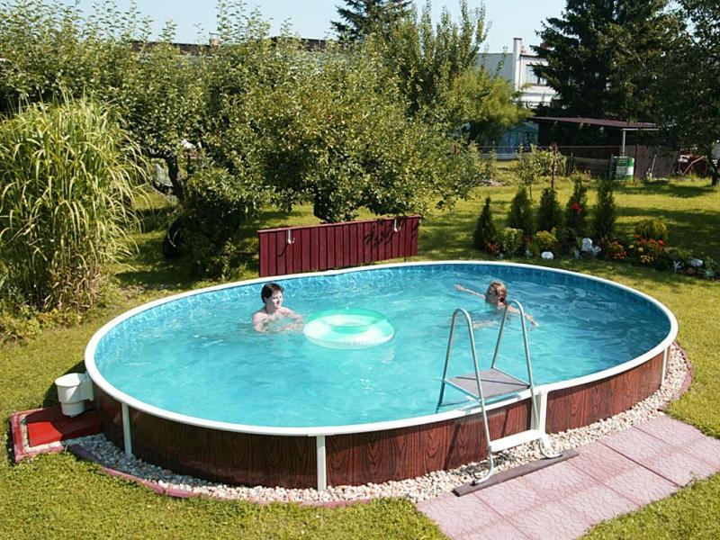 Вкопанный каркасный бассейн