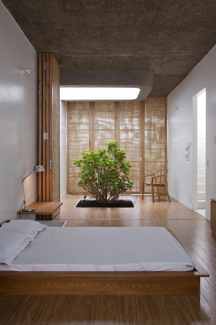 Расстановка мебели в спальне в японском стиле