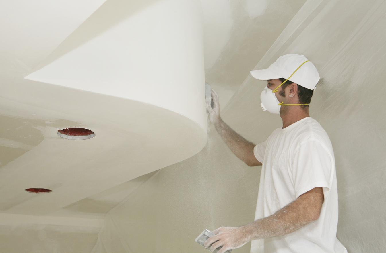 Заделка швов на потолке перед побелкой