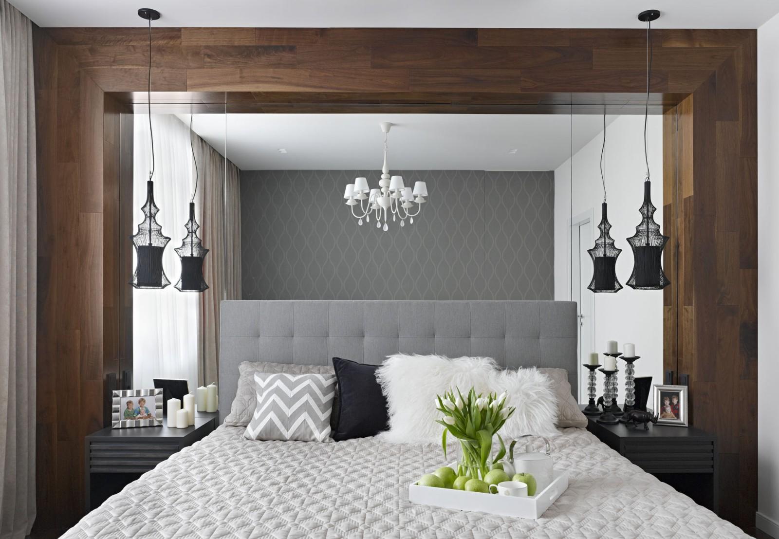 Расстановка мебели в спальне с зеркалом