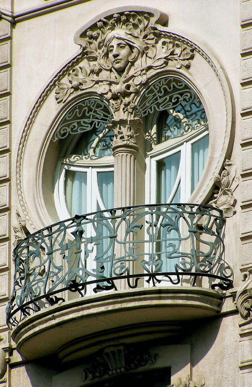 Фасадный декор балкона