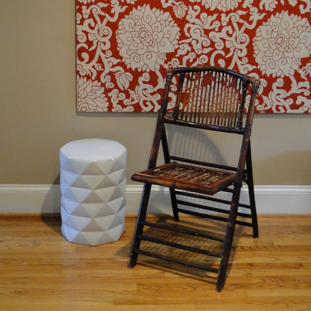Складной стул из бамбука