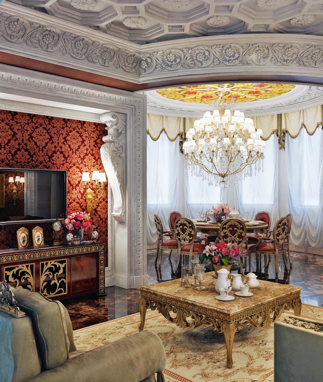 Лепной декор в стиле барокко