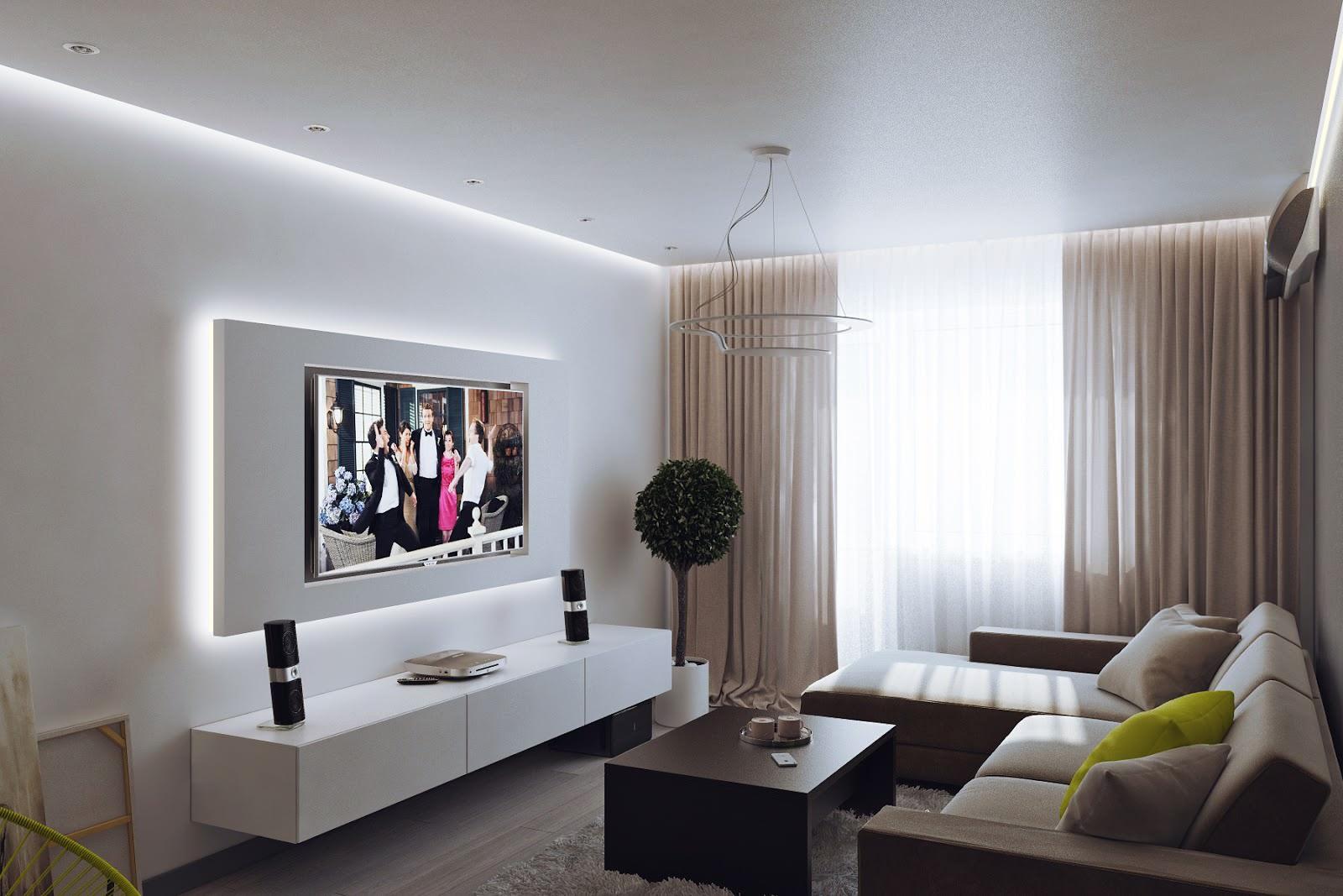 Дизайн двухкомнатной квартиры в бежевых тонах
