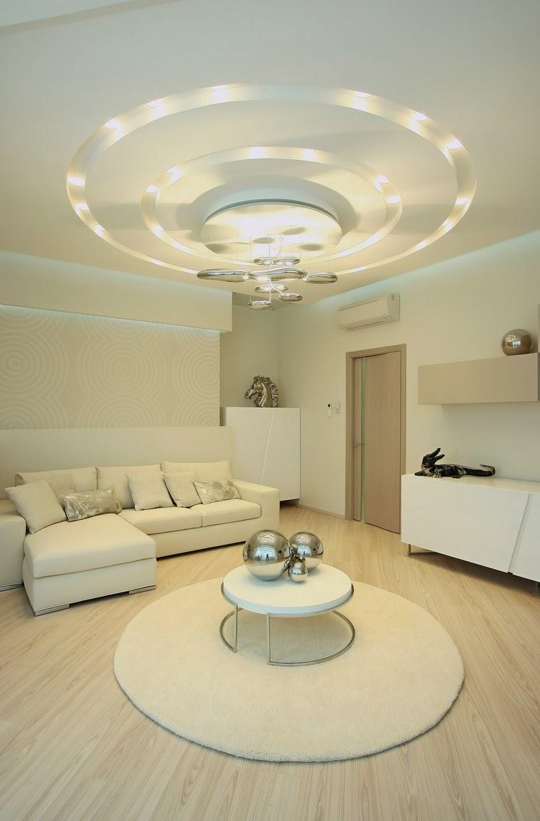Белый комбинированный потолок