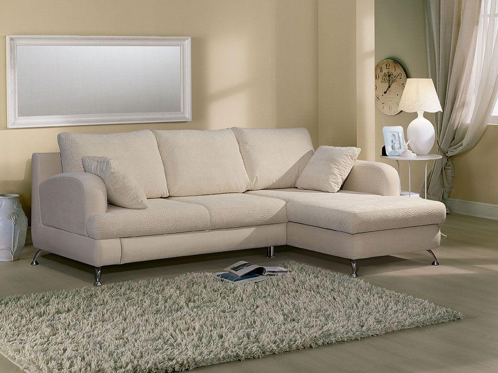 Белый тканевый диван