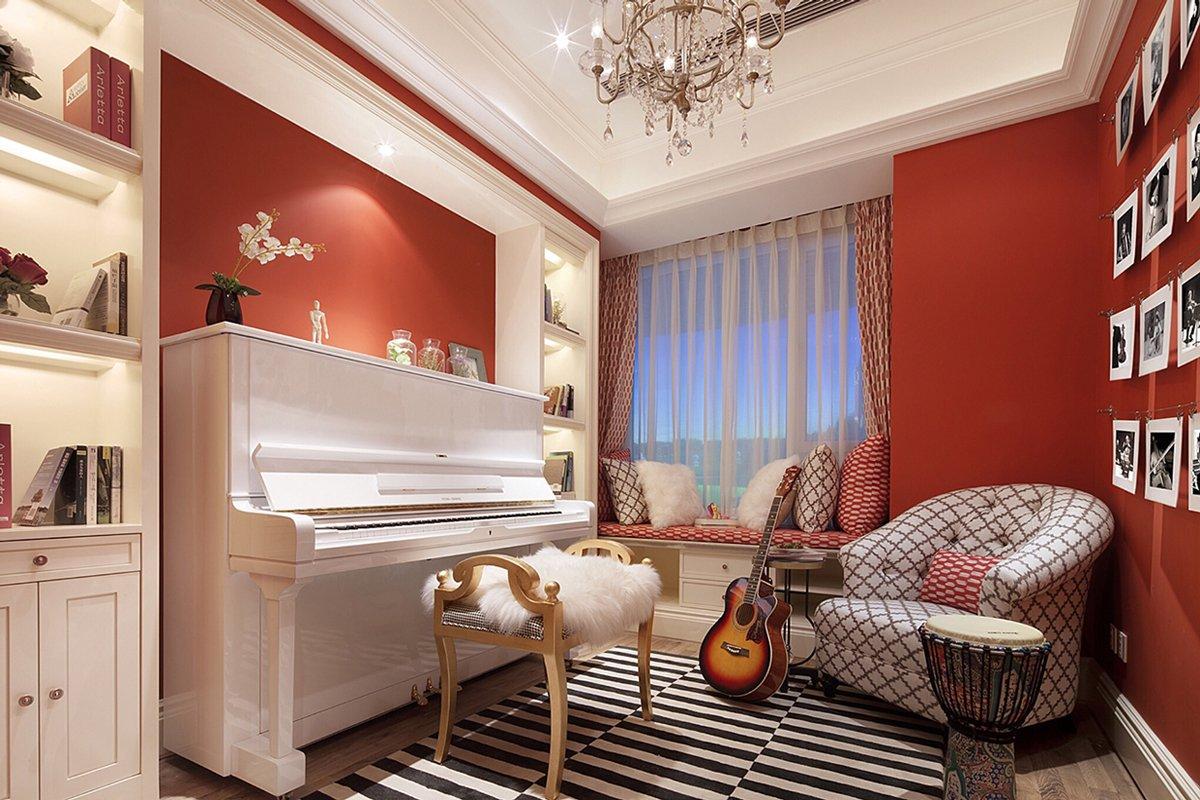 Белое пианино в интерьере