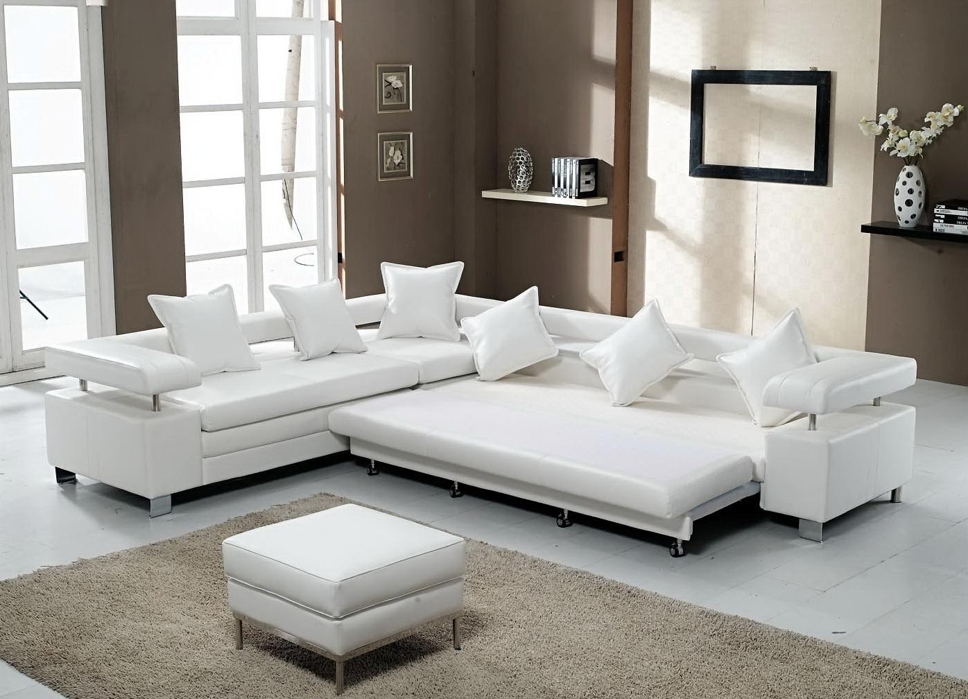 Белый диван хай-тек