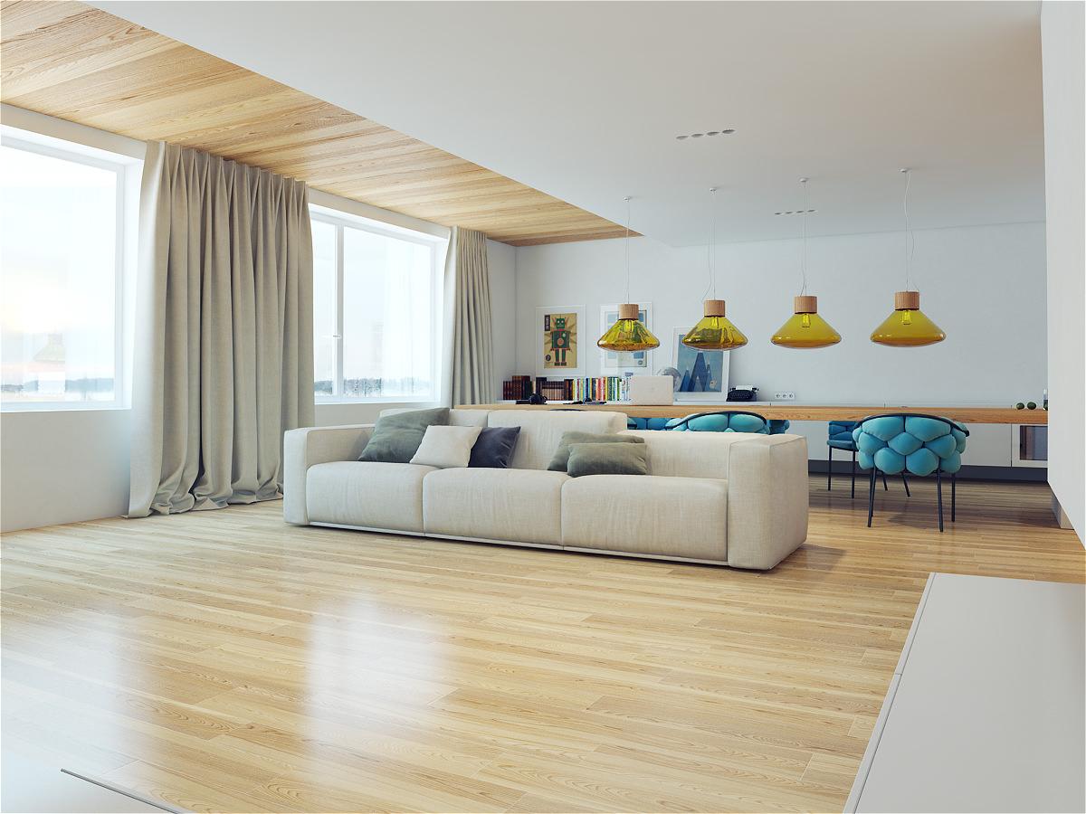 Дизайн большой двухкомнатной квартиры