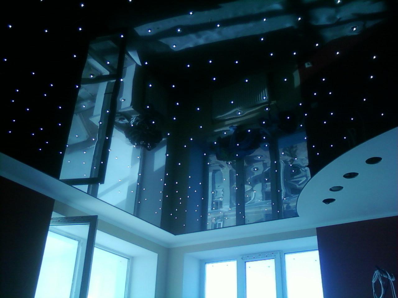 """Черный потолок """"звездное небо"""""""