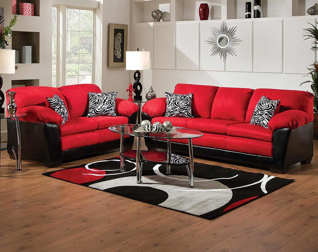 Черно-красный диван