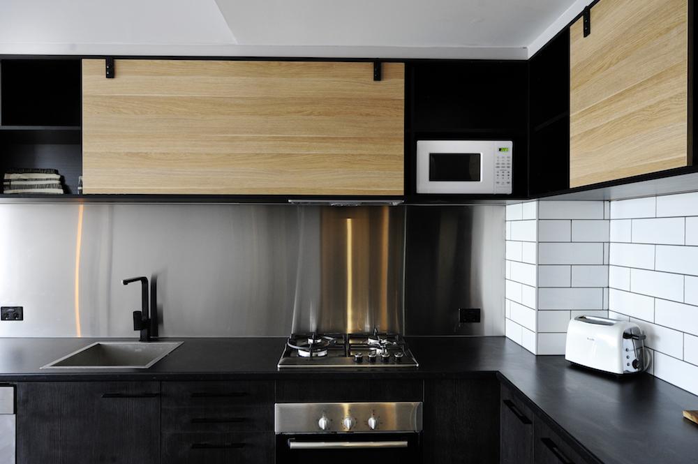 Черный металл в дизайне кухни
