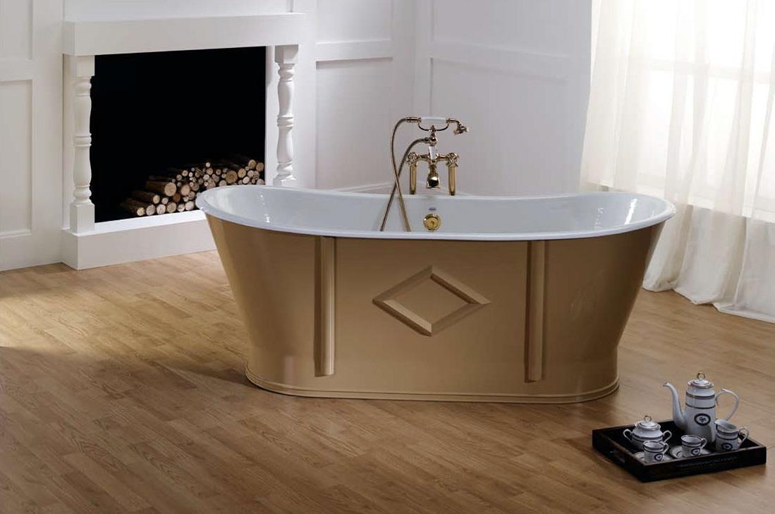 Отдельно стоящая чугунная ванна