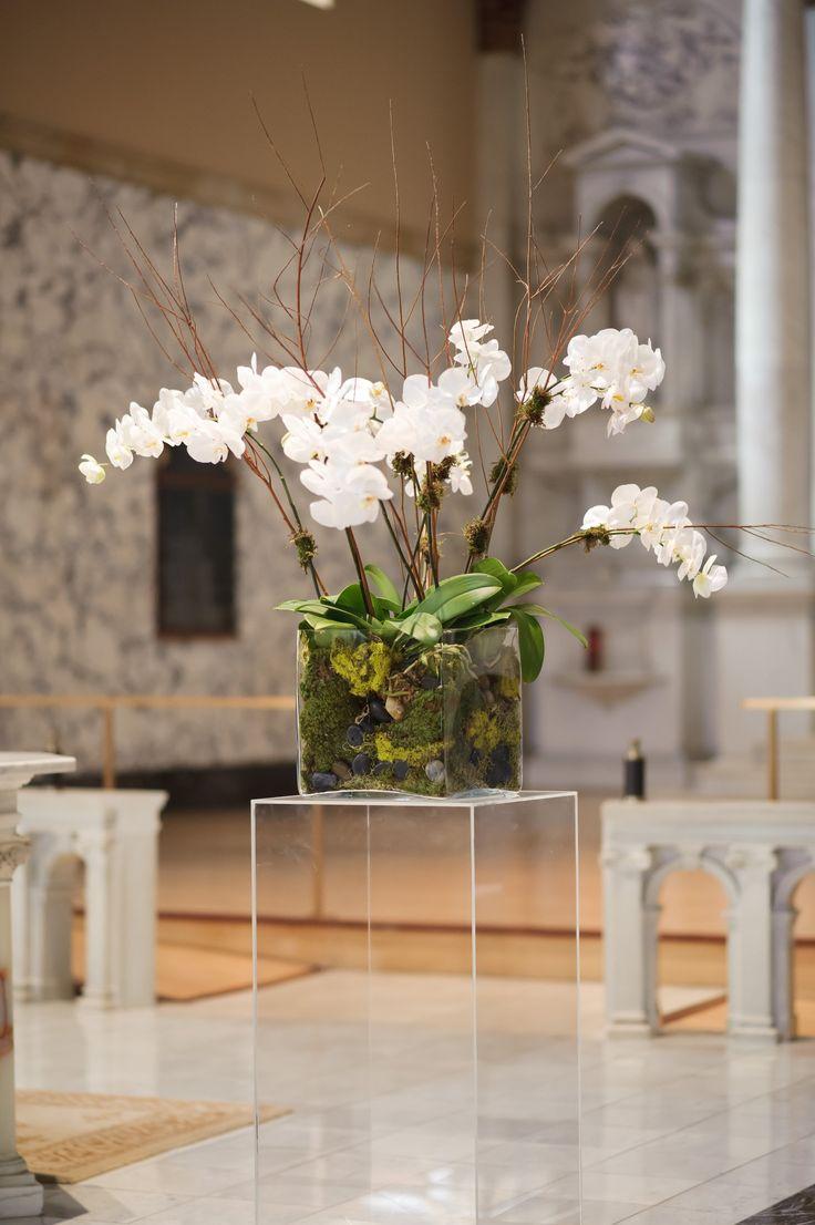 Орхидея Ванда в классическом интерьере