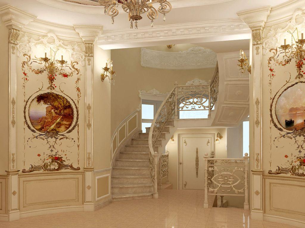 Декор из гипса в классическом интерьере