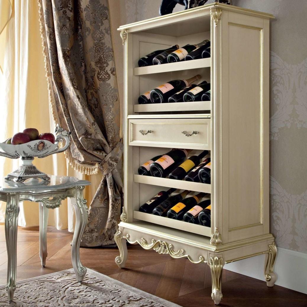Шкаф для вина в классическом стиле