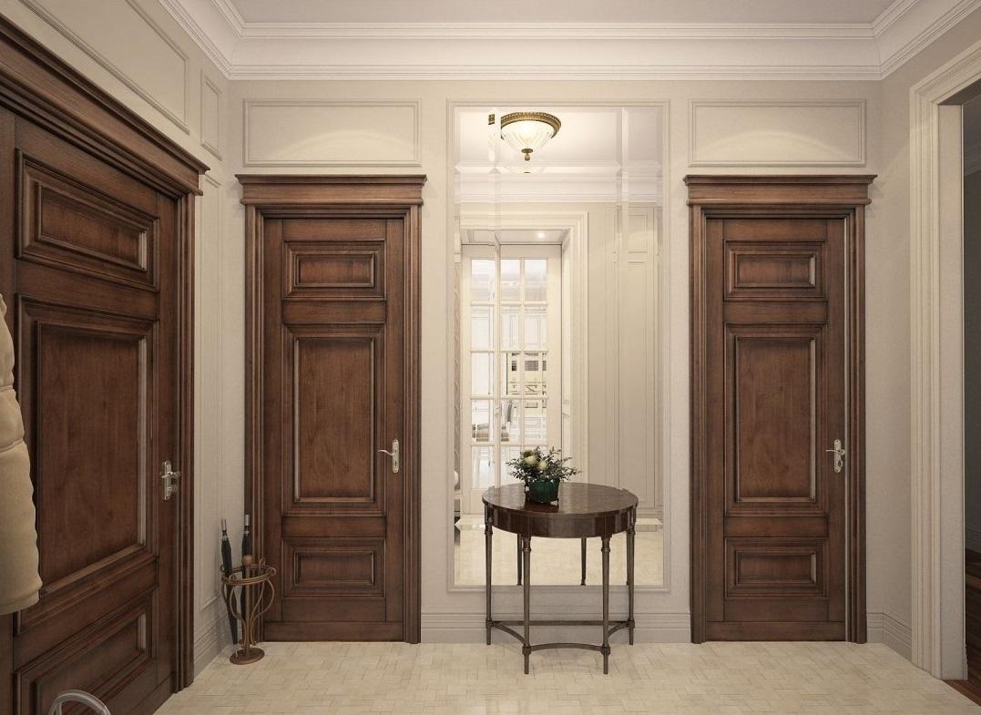 Дверь из массива в классическом стиле