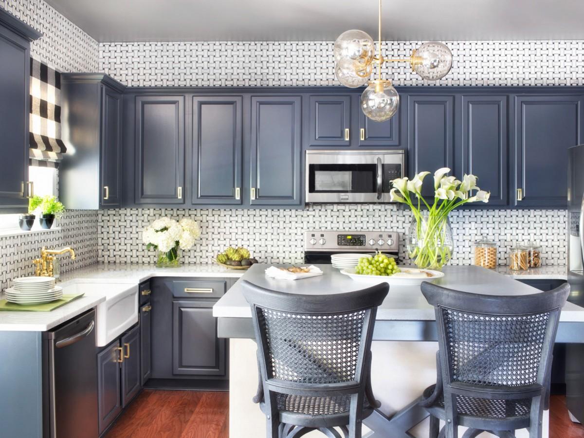 Модный серый цвет кухни 2017